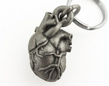 Anatomical Heart Keychain - Human Heart Locket,  Heart keychain, Human Heart Anatomy. Cardiology