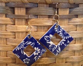 Floral Open Diamond Earrings