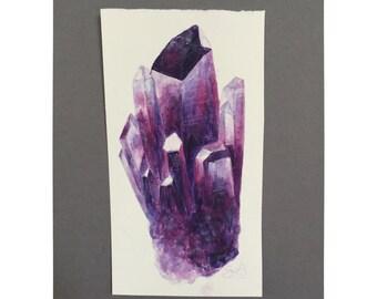 Crystal Cluster Watercolor