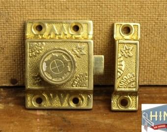 Vintage Eastlake Cast Brass Cupboard Latch Item 441