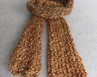 Lightweight Knit Scarf ~Caramel~