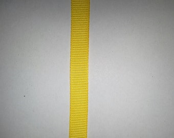 "Yellow  3/8""  Grosgrain Ribbon - 1 yard"