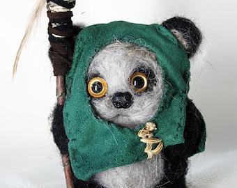 Handmade Needle-Felted Wool Ewok *Tokkat*