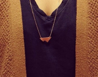 Inverted Mountain Necklace