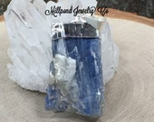 Blue Kyanite Pendant, Kyanite Pendant, Blue Kyanite Point Pendant, One of A Kind, Choose Your Piece, Silver Plated, F