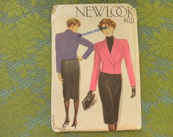 Womens Misses SKIRT & Jacket,... Sz 8-10-12-14-16-18-...Uncut  New Look 6024 Sewing Pattern