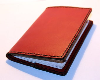 Leather Passport Cover! Leather Passport Holder! Leather Travel Passport Cover!Red Handmade Passport Cover! SALE!