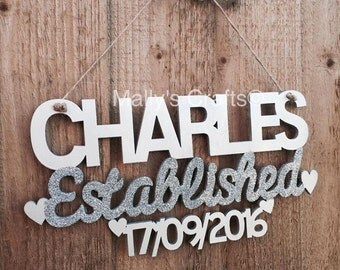 Established Personalised Wedding Plaque