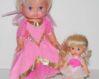 Pair of Vintage Dolls - 'Lil Miss Magic (?) Heart on Cheek