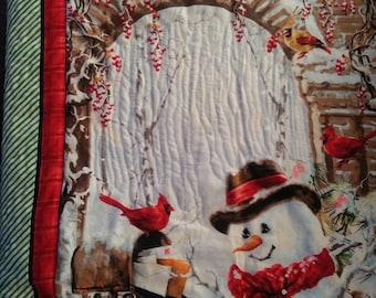 Christmas Fun Snowman Winter Quilt