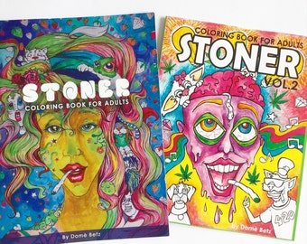 Stoner Coloring Books for Adults by dOmaniaPower on Etsy