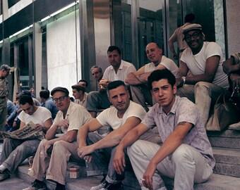 New York 63 64 Clothing Construction Worker Red Wing Work Boots Shoes Photo Vintage Look Arthur von Schwertfuehrer (1891-1967) Lim. Edition