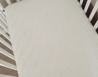 Minky Crib Sheet - White