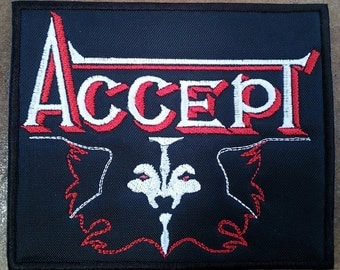 Accept embroidered patch UDO