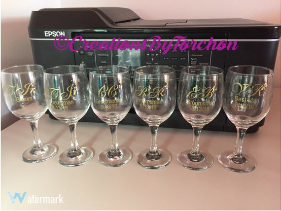 Wedding Gift Personalized Wine Glasses : Personalized Wedding Gifts - Wine Glasses - Flutes