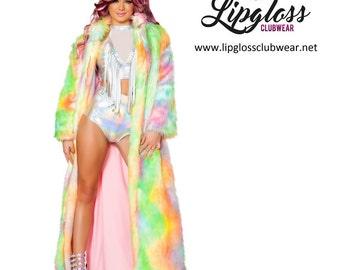 Rainbow Sherbet Light-Up Full Length Coat