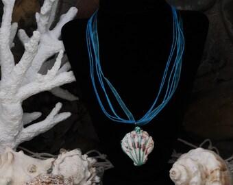 Seashell necklace, Beach wedding necklace,under the sea birthday necklace,ocean birthday girft, Mermaid necklace, little mermaid birthday