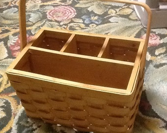 Wicker Utensil & Napkin Holder