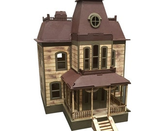 Bates House Model Kit, Wooden Model, Laser Engraved, Horror Movie, TV Shows, 3D Puzzle, Present, Gift, Hobby, Home Decor, Craft