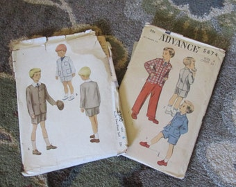 Set of Two Vintage Boys Patterns