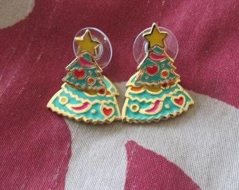 Berebi Christmas Tree Earrings Pierced Earrings Holiday Jewelry