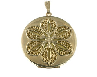 Gold Plated Flower Filigree Locket
