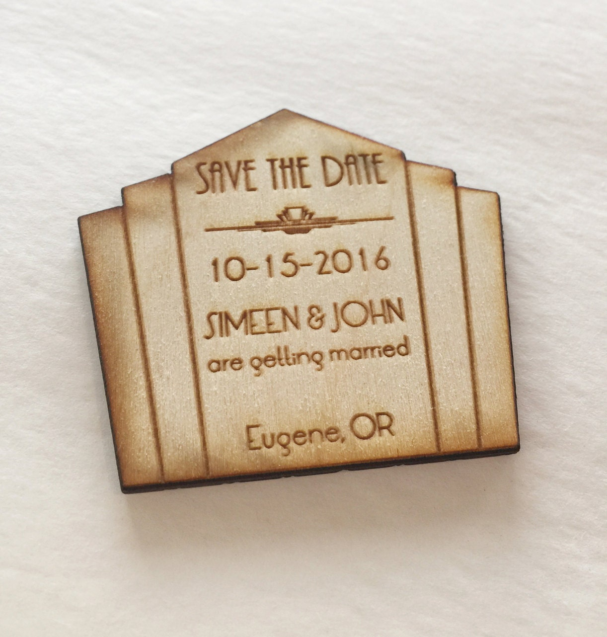 save the date magnet 1920s art deco theme 50 great gatsby. Black Bedroom Furniture Sets. Home Design Ideas