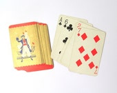 Vintage sailor playing cards: pack of 15 gold cards. Craft supply for scrapbooks, altered art, journaling, smash books.