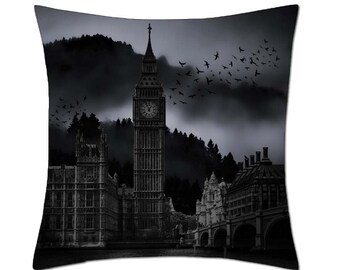 Gothic Big Ben (London) Cushion Cover (C137)