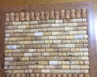 Large framed cork board.