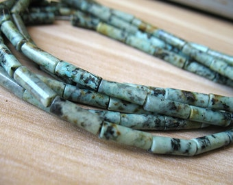 Natural turquoise bead turquoise cylinder tube beads for bracelet,necklace healing crystal 075