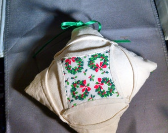 Christmas, Ornament, Cathedral Window, Hand Made