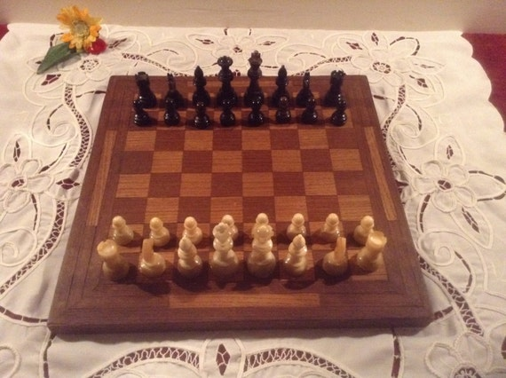 Wonderful vintage chess set ornate antique item beautiful - Ornate chess sets ...