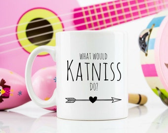 What would Katniss do? Novelty 11oz mug hunger games themed