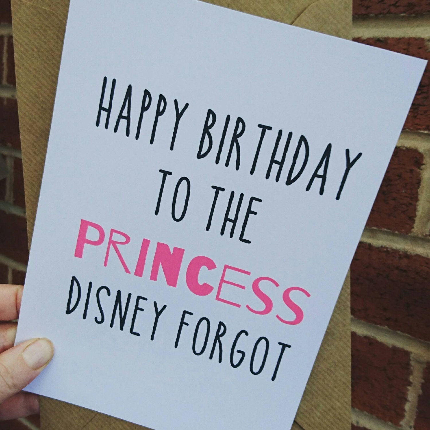 happy birthday to the princess disney forgot funny card a5