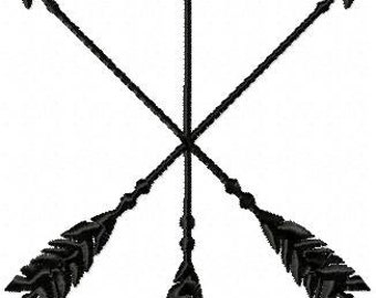 Triple Arrow machine Embroidery Design - Comes in 4,5,6,7 inch sizes