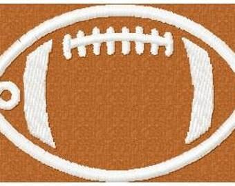Machine Embroidery Design - Zipper Pull, Bag Tag - Football