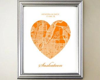 Saskatoon Heart Map