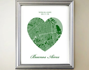 Buenos Aires Heart Map