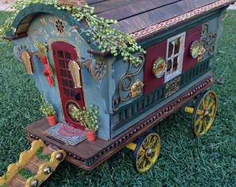 Laser cut Reading Gypsy Wagon Trailer caravan Kit