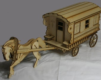 Laser cut Burton Gypsy Wagon Trailer caravan Kit