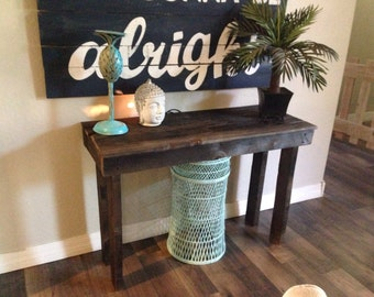 Pallet wood table 2 ft by 3 ft dark stain