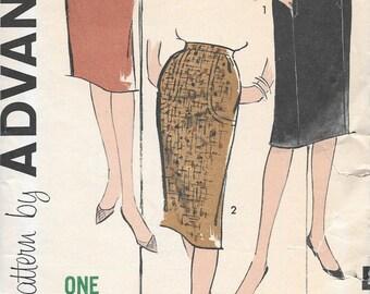Vintage 1950s Advance Sewing Pattern 9920- Misses' Skirt waist size 24 hip 33 uncut