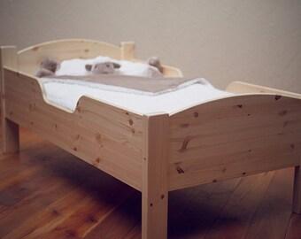 Toddler Bed, Child's Traditional Toddler Bed, Unfinished Kid's Wood Furniture, DIY Furniture