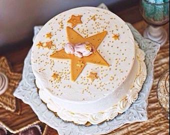 Twinkle Sprinkle Cake Decoration Edible Marker : Edible gold stars Etsy