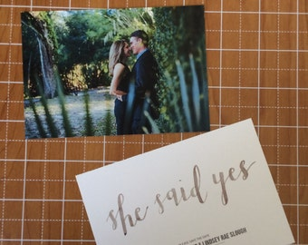 Hand Lettered/Watercolored Save the Dates