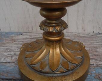 Regency Antique Gold Pillar Candle Holder!