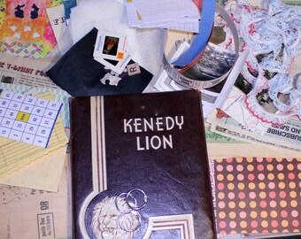 Junk Journal Kit, Mixed Media Art Journal Kit, Art Diary Kit, Journal Starter Kit, Vintage Book Journal Kit