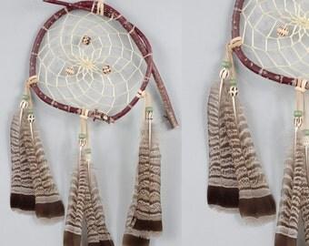 Wood Dream Catcher, Wooden Dreamcatcher, Wall Hanging Dreamcatcher, Native American Style Dream Catcher, Woodland Nursery Decor