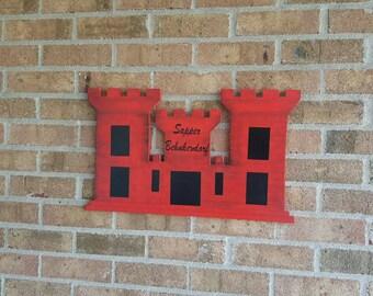 Military Engineer Castle Wood Door Hanger